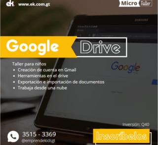 Taller de google drive excel word para niños guatemala zoom