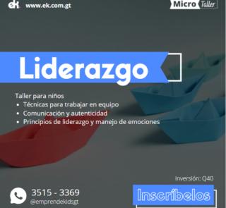 Taller de liderazgo para niños guatemala zoom