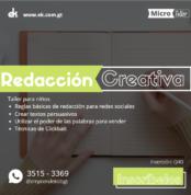 Taller de redacción creativa clickbait guatemala zoom